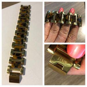 J. CREW Gold Link & Tortoise Bracelet